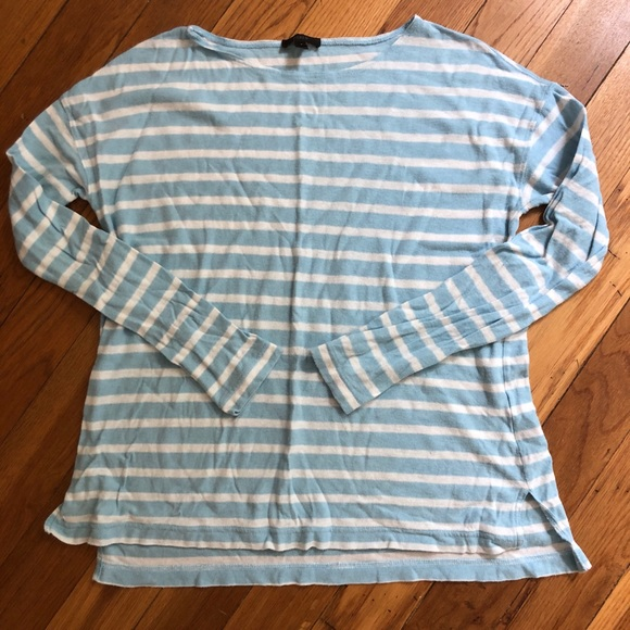 J. Crew Sweaters - J. Crew oversized sweater, blue and white stripes